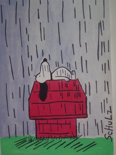 Snoopy_in_a_Rainstorm_by_DewCrystal